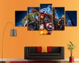 HD a estampé l'animation de vengeurs la toile Mc-073 d'illustration d'affiche d'impression de décor de pièce d'art de mur de peinture d'illustration de 5 parties
