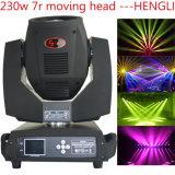 Venta caliente 230W Sharpy 7r Beam iluminación principal móvil de la etapa