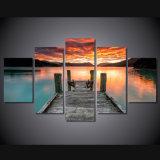 HD a estampé la toile Mc-087 d'illustration d'affiche d'impression de décor de pièce d'impression de toile de peinture de ciel de coucher du soleil de lac