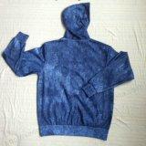 O velo da forma Fecha-acima a roupa de Hoodies do esporte da sarja de Nimes do homem no desgaste Fw-8664 do esporte de Audlt