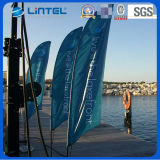 Sales chaud 5.5m Telescopic Outdoor Advertizing Flag Polonais (LT-17F)
