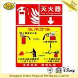CO2 Feuerlöscher-empfindlicher anhaftender Aufkleber