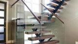 Diseño moderno de acero manga autónomo abierto Escalera cubierta con madera maciza de la banda de rodadura Escaleras