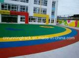 학교 운동장을%s 박판으로 만들어진 이동하는 마루