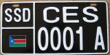 남쪽 수단 자동차 면허증 격판덮개/번호판/차량 격판덮개