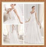 hors de The Shoulder V-Neck Chiffon Wedding Dress