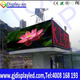 Colore completo esterno P4.81 che fa pubblicità alla visualizzazione del tabellone per le affissioni del LED