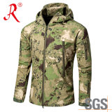 Novo jaqueta de material verde de material Softshell (QF-4124)