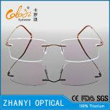 Kein MOQ einfache TitanEyewear Brille-Glas-optischer Rahmen mit Duo-Farbe (8512)