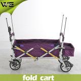 Carro de serviço público de dobramento portátil da bagagem da compra para a venda
