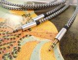 Цветастая пенька кабель аудиоего от 3.5mm до 3.5mm