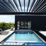 Pergola에 의하여 자동화되는 알루미늄 지붕 일요일 Shading 미늘창 방수 시스템