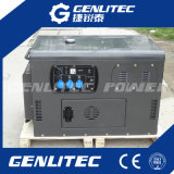 O ar refrigerou 2 o gerador Diesel portátil silencioso Diesel do motor 10kVA do cilindro