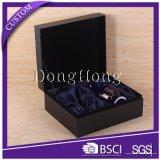 Коробка вина PU лидирующего хранения кожаный с стеклянной упаковывая коробкой