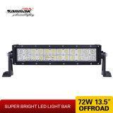 barre tous terrains d'éclairage LED de double rangée de 13inch 72W Epistar