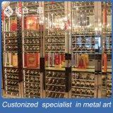 Kundenspezifische Mondern Stylestainless silberne Wein-Schrank-Stahlmöbel für Gaststätte
