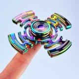 Heißester Regenbogen-bunter Metallspielzeug-Handfinger-Unruhe-Spinner