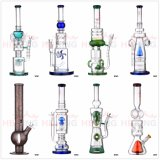 Bio Hazard Glass Straight Ice Water Pipe avec Ash Catcher