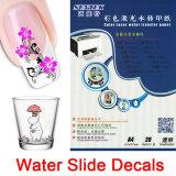 Etiquetas de la diapositiva de agua de las etiquetas engomadas del clavo para la taza plástica de cristal de cerámica