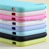 El caramelo colorea la caja suave ultra fina del teléfono de la mata para el iPhone 7/7 más