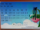 Panneau blanc de calendrier de vitre magnétique éteint à sec avec En71 / 72/73