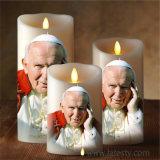 جديدة بيضاء منزل عمود شمع دينيّ [لد] شمعة