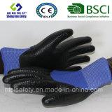 interpréteur de commandes interactif du polyester 13G avec les gants de travail enduits par nitriles (SL-N117)