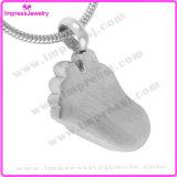Neue Art-Baby-Fuss-Edelstahl-Verbrennung-hängende Halsketten-Speicher-Form-Schmucksachen (IJD8041)