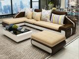 Sofá de la sala de estar del marco de madera de la L-Dimensión de una variable de la tela (HX-SL023)