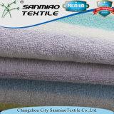 Hilados de distintos colores a rayas de tela de toalla de tela para ropa de bebé