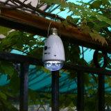 Éclairage à la maison d'intérieur actionné solaire rechargeable à télécommande infrarouge de lumière d'ampoule de 12 DEL DEL