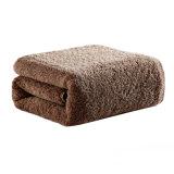 La vente en gros épaississent l'essuie-main 100% de Bath de coton de plaine de couleur solide