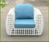 Sofà elegante del vimine del giardino del rattan della mobilia esterna moderna di stile
