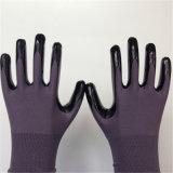 Nylon перчатка с ровным покрытием нитрила