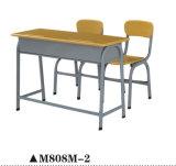 二重シートのための強い学校の机そして椅子