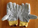 Kevlar-Sicherheits-Handschuhe mit dem Rindleder-Nähen