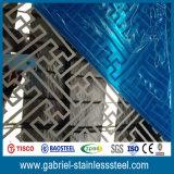 Hoja de acero inoxidable de 1.5m m del espejo decorativo del espesor