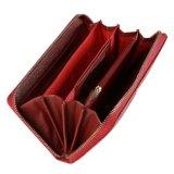 Het Leer van de Manier van Fani Dame Woman Wallet in Rode Kleur