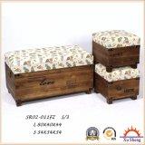 時代物の家具の木のフィートの腰掛けの記憶のオットマンの箱のトランクのギフト用の箱