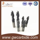 Flautas do moinho de extremidade 3 do carboneto para a estaca de alumínio