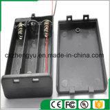 sostenedor de batería 3AA con los terminales de componente, la cubierta y el interruptor rojos/negros de alambre