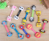 Neuheit-Minifarben-Karikatur-Mobiltelefon-Kopfhörer-Kopfhörer-Kabelbinder-Organisator-Verpackung