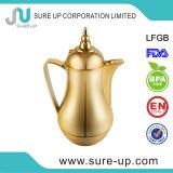 جديد ذهبيّة/[سليفر] عربيّ زجاجيّة عبوة جديدة قهوة باع بالجملة إناء [1.0ل-] مصنع