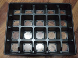 20 Zellen PS-Startwert- für Zufallsgeneratortellersegment Palstic Blumen-Potenziometer-Tellersegment-Plastikverpackungs-Tellersegment