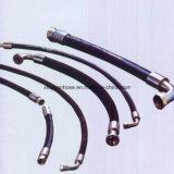 Ajustage de précision en caoutchouc industriel de tuyau de pétrole hydraulique de boyau de SAE100r1 1sn