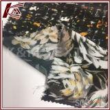 Tela de seda del Crepe de la impresión el 100% del modelo de flor