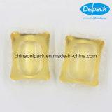 OEM&ODM 25g 화려한 노란 세척액 제정성 깍지, 세탁물 액체 세제 깍지 제조자
