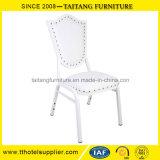 PUカバーが付いている贅沢で白い結婚式の椅子のイベントの椅子の宴会の椅子