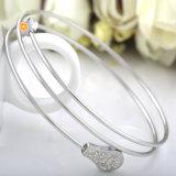 El más reciente joyería de moda pulseras tricíclicos encanto de las mujeres del brazalete del acero inoxidable