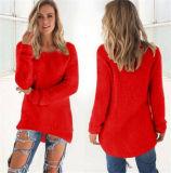 Chandail pelucheux du cavalier de 2016 femmes de mode (80005)